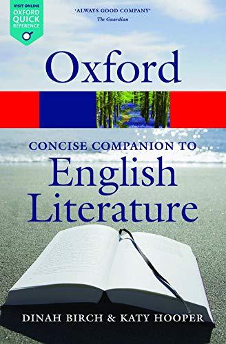 The Concise Oxford Companion to English Literature (Oxford Quick Reference)