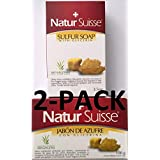 Natur Suisse Jabon De Azufre Sulfur Soap 3.5 oz. With Glycerin 2-PACK