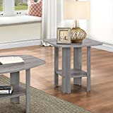 HomeRoots Furniture 286045-OT Gray Oak End Table, Multicolor