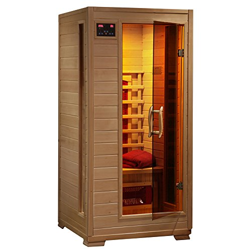 1-2 Person Hemlock Infrared Sauna w/ 3 Ceramic Heaters by Radiant Saunas