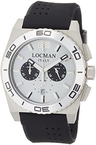 LOCMAN watch stealth Mare quartz chronograph rotating bezel Men's 0212 021200AK-AGKSIK Men's [regular imported goods]