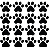 Yadda Yadda Design Co 16 Dog Pawprints Vinyl Wall Decal Black Paws Are 3 X 2 75 Home Kitchen