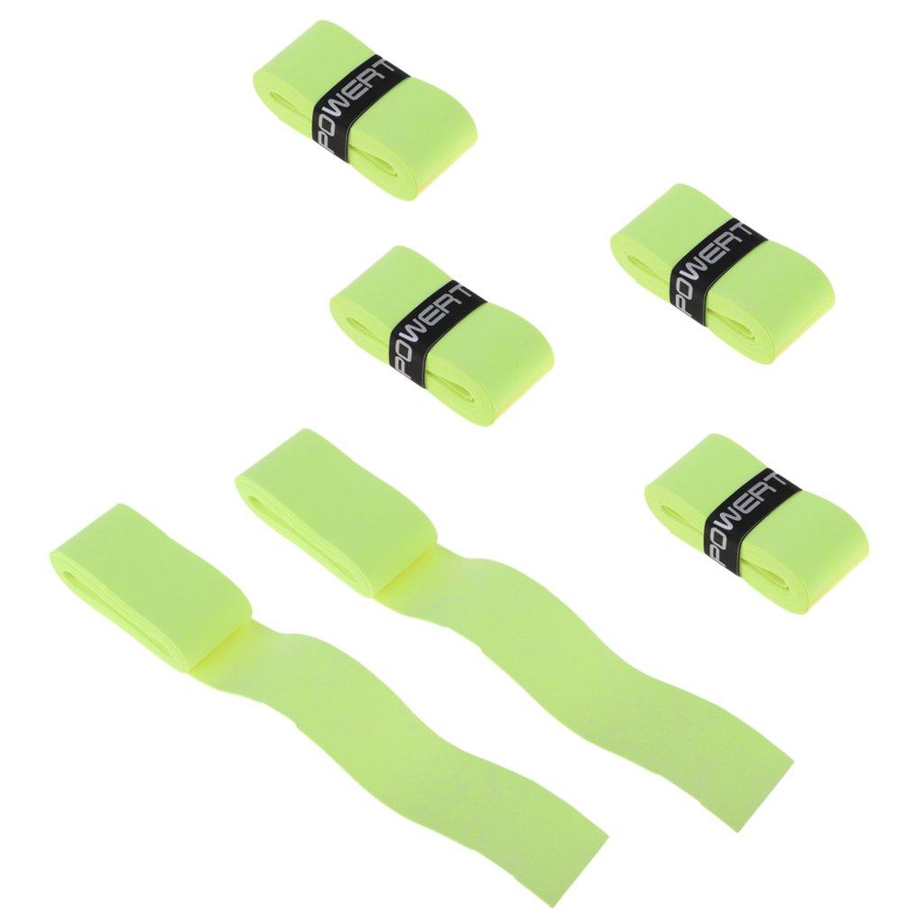 NON Sharplace 6 Unidades de Cintas Protectoras para Agarre de Raqueta de Tenis Bá dminton Hecho de Material PU - Azul non-brand