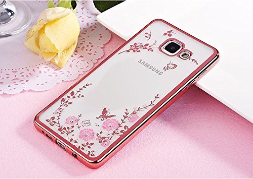 super popular 068fe 00da8 Samsung Galaxy J7 Prime Case, KolorFish [Secret Garden] Rose Gold and Pink  TPU Plating Clear Shiny Cover Series for Samsung Galaxy J7 Prime