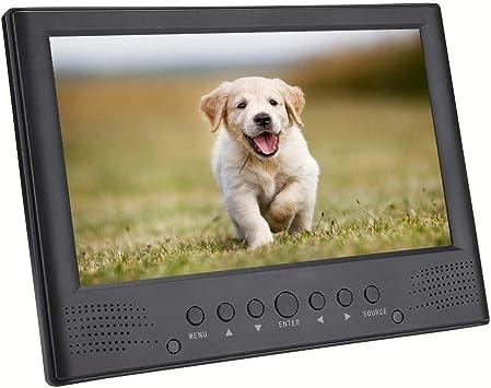 Jimdary TV Digital con Altavoces Frontales de 110-220 V, con Ranura para Tarjeta TF, Mini televisor de 9 Pulgadas, para el hogar, para Exteriores: Amazon.es: Electrónica