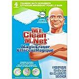 4 count Mr. Clean Magic Eraser Bath Scrubber Febreze Meadows & Rain Scent Cleaning Pads