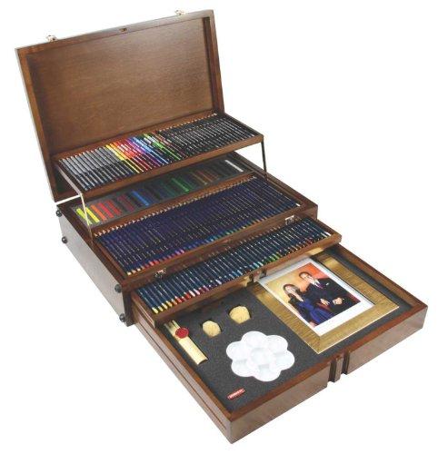Derwent Watercolor Pencil Box (Derwent Majestic Commemorative Wooden Box, Pencils and Accessories, Limited Edition, 150 Count (2300477))