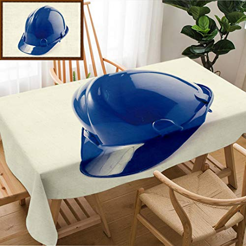 Skocici Unique Custom Design Cotton and Linen Blend Tablecloth Hard Hat Safety Helmet On Isolated White BackgroundTablecovers for Rectangle Tables, 60