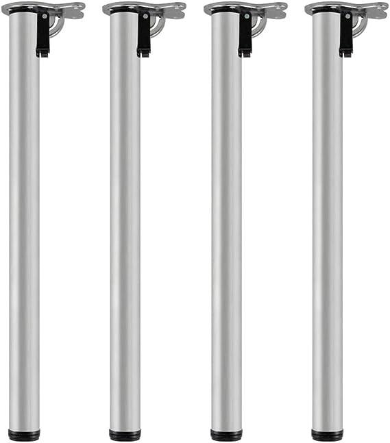 Juego de 4 Patas de la Mesa Abatible Plegable Regulable Acero Ø 50 mm pata 820mm V2Aox: Amazon.es: Bricolaje y herramientas