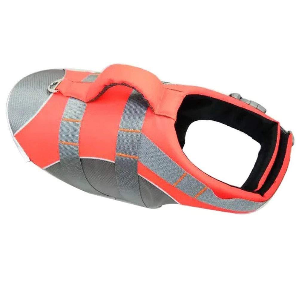 orange L orange L Dog LifeJacket,Adjustable Reflective Super Buoyancy Dog Safety Vest,orange,L