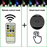 Night Light 7 Colors Change with Remote Control Help Kids Fell Safe at Night by Easuntec (Teddy Bear Heart)