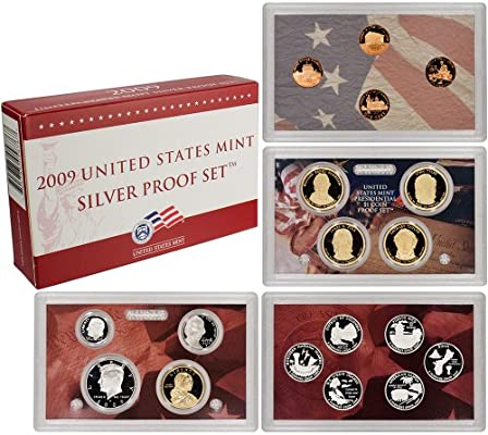 and Box 2009 Silver Proof Set Beautiful 18 coin Set with Cert