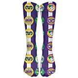 Have Fun Mardi Gras Fashion Knee Socks Gym Adults Knee Crew Socks