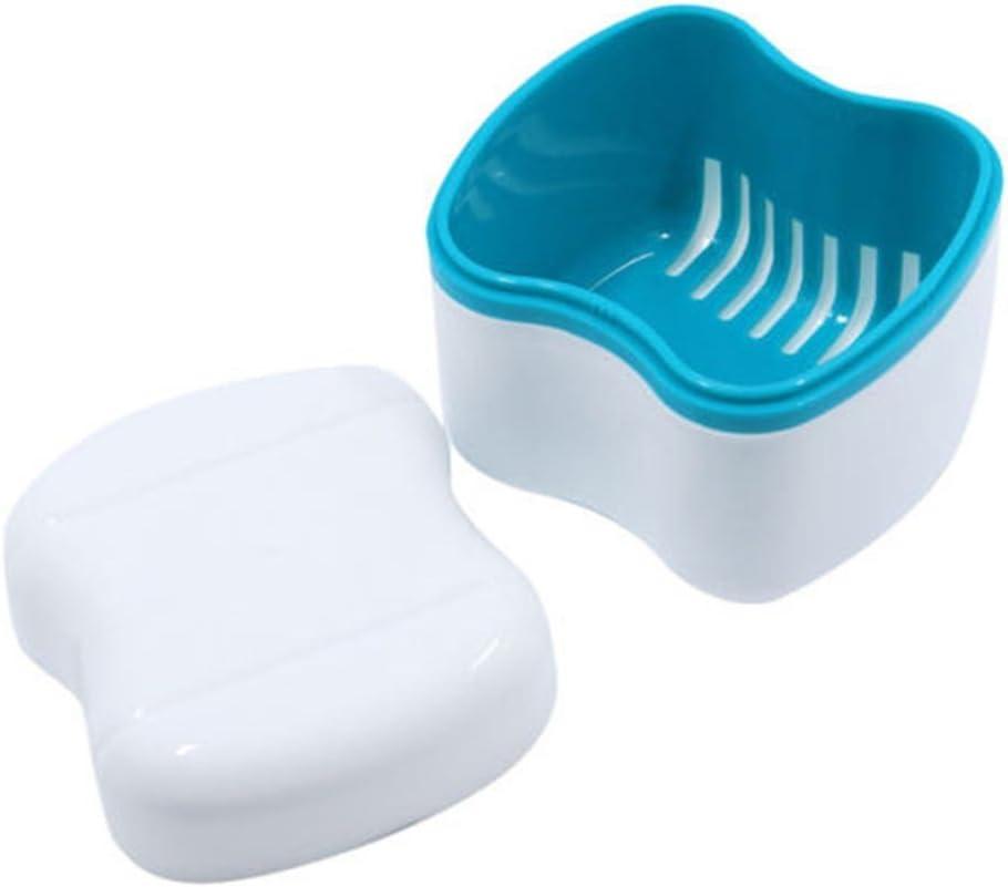 Jianghui Funda de dentadura Estilo Europeo Aparato de baño Dentaduras Caja de Almacenamiento Dentaduras con Filtro, Copa de dentadura con Tapa, Caja de dentaduras, Contenedor de retenedor Dental: Amazon.es: Hogar