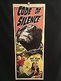 #9: Code Of Silence 1960 Original Vintage Insert Movie Poster, Terry Becker, Noir, Crime, Thriller