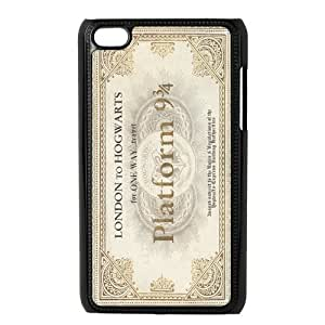 Hogwarts Train Ticket Harry Potter Inspired Design Durable Back Cover Casefor ipod touch 4