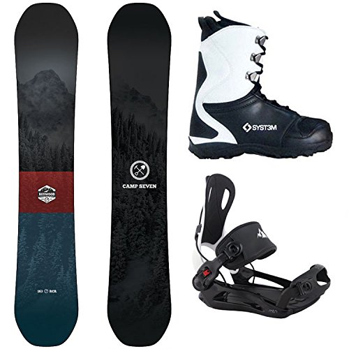 Package-Camp Seven Redwood Snowboard 153 cm-System MTN Binding large-System APX Boot (Snowboard Equipment Package)