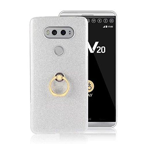 best service f0f79 5eb1a LG V20 Case,Ultra-thin 360 Degree Rotating Ring Holder Kickstand Case Soft  Gel TPU Bling Glitter Sparkle Back Cover for LG V20