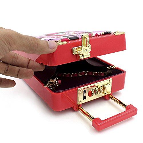 Shoulder Floral Mini Luggage Small Hand Girls Acrylic Shaped Bag For Bag Bag Bag Bag Cosmetics Onfashion Pq6x5znwx
