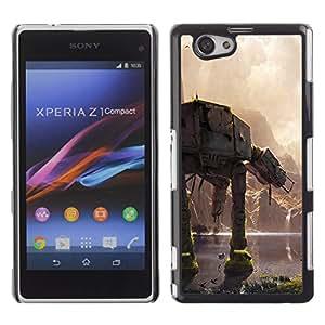 // PHONE CASE GIFT // Duro Estuche protector PC Cáscara Plástico Carcasa Funda Hard Protective Case for Xperia Z1 Compact D5503 / En En Batalla /