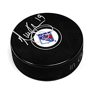 AJ Sports World KYPN10305A Nick Kypreos New York Rangers Signed Autograph Model Hockey Puck