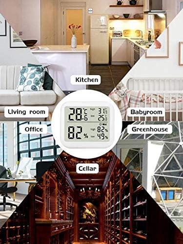 Schildeng Indoor-Großbildschirm mit Display Feuchtespeicher für hohe und niedrige Temperaturen Hochpräzises digitales elektronisches Thermometer Hygrometer Haushalt Baby Raumtemperatur Hygrometer