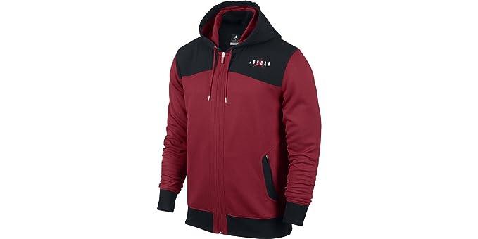 Nike de Hombre - Jumpman sudadera de Jordan - Negro y rojo: Amazon.es: Deportes y aire libre