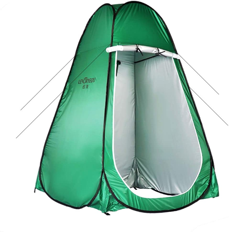 Pop Up Privacy Tent–Instant Portable Outdoor Shower Tent, Camping Toilet, Changing Room, Sun Shelter with Window–for Camping,Hiking–Lightweight & Sturdy, Easy Set Up, Foldable - with Carry Bag: Sports & Outdoors