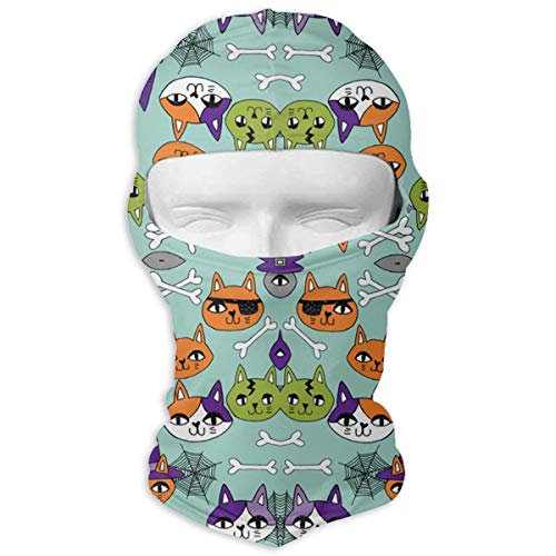 SWIJHAN Cats Spooky Cute Halloween Fabric Balaclava Face Mask Breathable Outdoor Sports Motorcycle Cycling Snowboard Hunting -