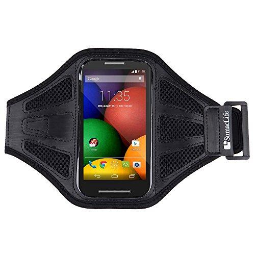 SumacLife Sports Running Armband for Motorola Moto E / Motorola Moto G / Moto X and more MOTOROLA cellphone / smartphone (Black) by ECCRIS