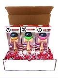 Kendama USA Wood Toy Tribute 3 Pack with 1 Orange/Black 1 Green/Black 1 Pink/Black Kendama Bundle