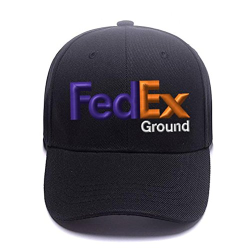 Caprobot iD FedEx Ground Purple Orange Snapback Cap Structured Mid Crown Adjustable Baseball Hat - - Fedex Hats Ground