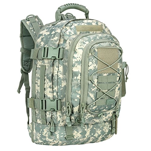 WolfWarriorX Military Tactical Assault Backpack 3-Day Expandable Backpack Waterproof Molle Rucksack For The Outdoors, Camping, Hiking & Trekking (ACU)