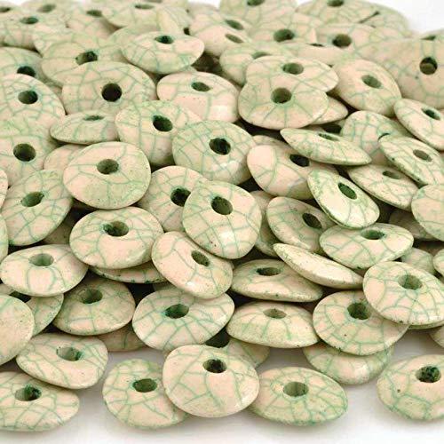 Ceramic Beads-16mm Donut-Antique Sage-Quantity 2