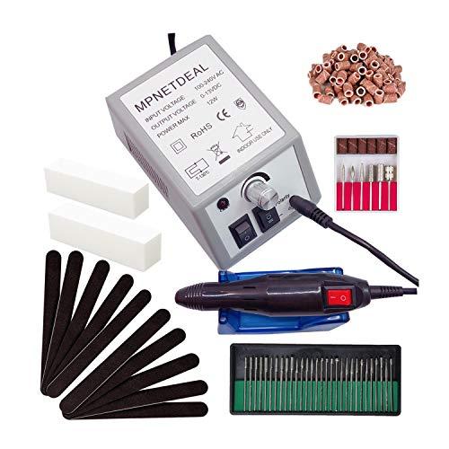 - Mpnetdeal Electric Nail Drill Machine Nail File e File Drill Set Kit for Acrylic Nails Gel Nail Glazing Nail Drill Nail Art Polisher Sets Toe Nail Drill Grinder (Gray)