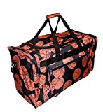 21 inch Fashion Print Gym Dance Cheer Travel Duffle Bag (Basketball)