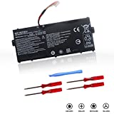 AC15A3J Replacement Battery for Acer Chromebook 11 CB3-131 C735 C735-C7Y9 Chromebook R 11 C738T CB5-132T CB5-132T-C8ZW Series Laptop AC15A8J KT.00303.017 [3Cells/10.8V/36Wh/3490mAh/18 Months Warranty]