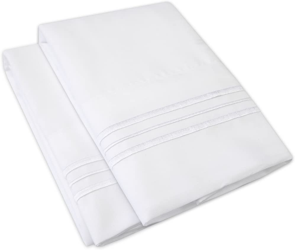 1500 Supreme Collection Pillowcase - Standard, 2 Count, White