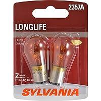 SYLVANIA 2357A Amber Long Life Miniature Bulb, (Contains 2 Bulbs)