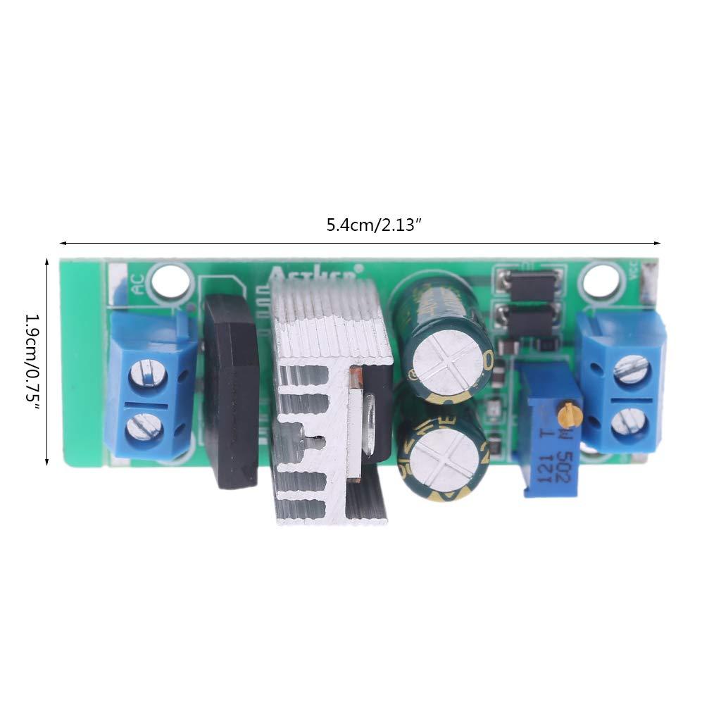 BouT LM317 modulo regolatore di Tensione di Alimentazione Regolabile modulo Buck Converter Step Down Alimentazione raddrizzatore Piastra di Ingresso AC//DC Breadboard