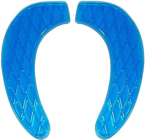 Scpqs Gel Toilet Seat Cushion Bagno Mobile E Lavabile Copertura Di Sede Universale Con Self Adesive Design Colore Blu Amazon It Casa E Cucina