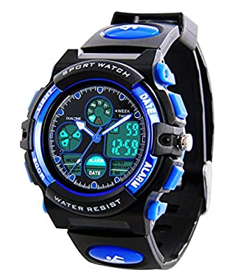 Kids Sports Digital Watch -Boys Waterproof Outdoor Analog Watch with Alarm, Wrist Watches for Childrens from MSVEW