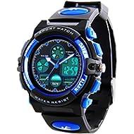 Kids Sports Digital Watch -Boys Waterproof Outdoor Analog Watch with Alarm, Wrist Watches for...