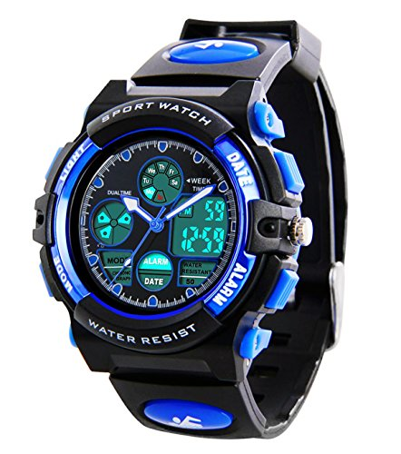 Kids Sports Digital Watch -Boys Waterproof Outdoor Analog ...