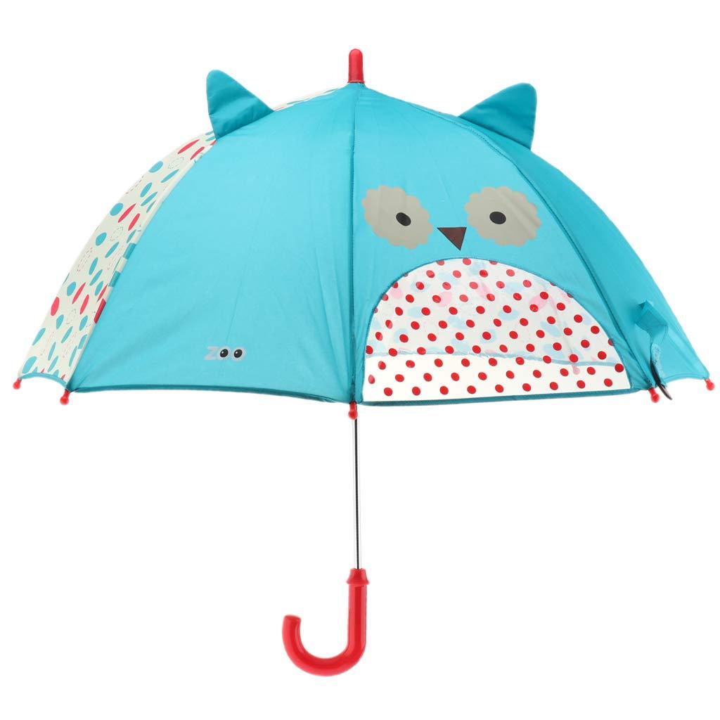 P PRETTYIA Children Umbrella Animation Creative Long-Handled 3D Ear Modeling Kids Umbrella - Butterfly, 60cm