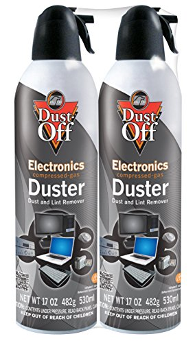 Dust-Off 17 oz Compressed Gas Duster, 2 Pack (DPSJMB2) by Falcon