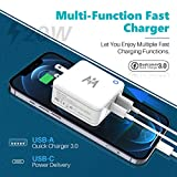 KKM USB-C Charger Adapter, 38W 2 Port, 20W Type C