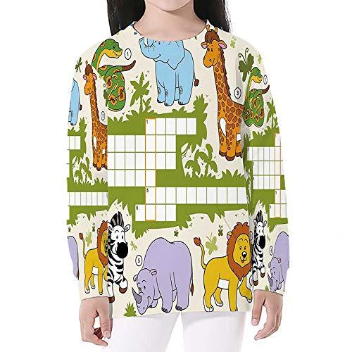 Word Search Puzzle,Crewneck Sweatshirts Long Sleeve Sweatshirt Pullover Top,S