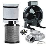 kitchen exhaust fan kit - Funlife 4 Inch Grow Tent Air Carbon Filter Combo-4 Inch Grow Tent Fan Kits for for Grow Tent Ventilation, Exhaust Inline Fan +Filter+Ducting+Fan Speed Controler Included