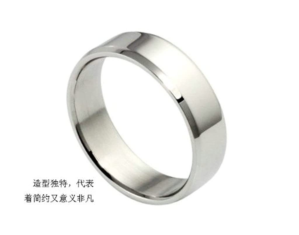 Gnzoe Jewelry Stainless Steel Wedding Bands Silver Smooth Surface Wide 6MM Ring for Men